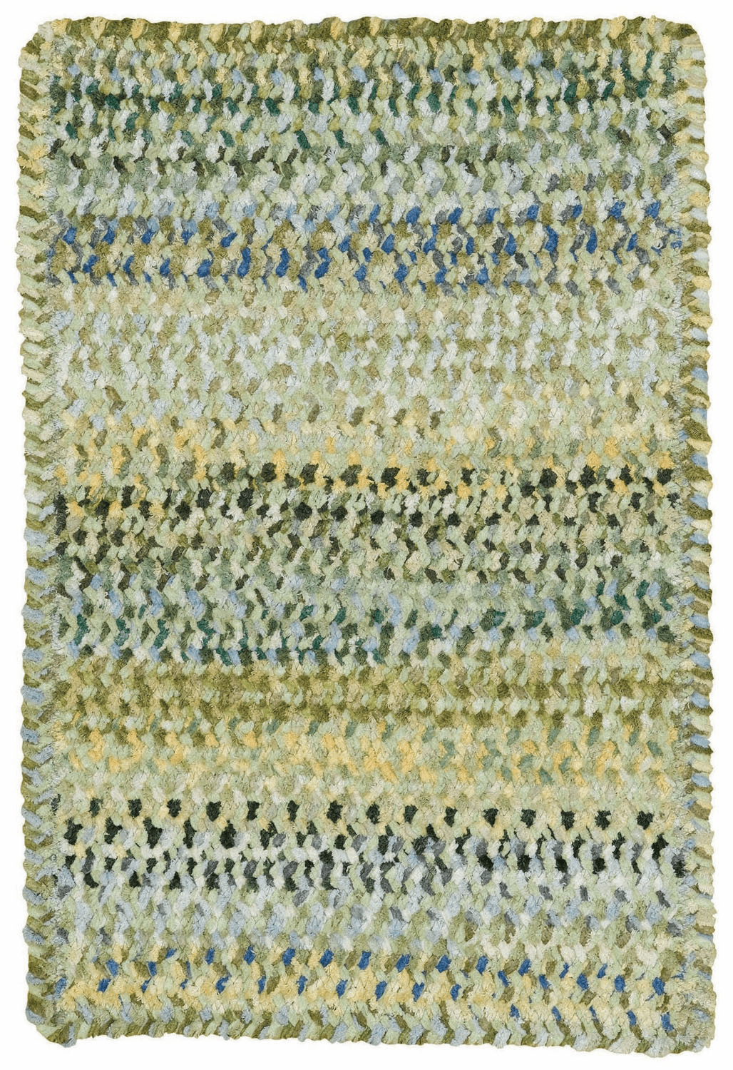 Hand-Braided Pale Green Rug