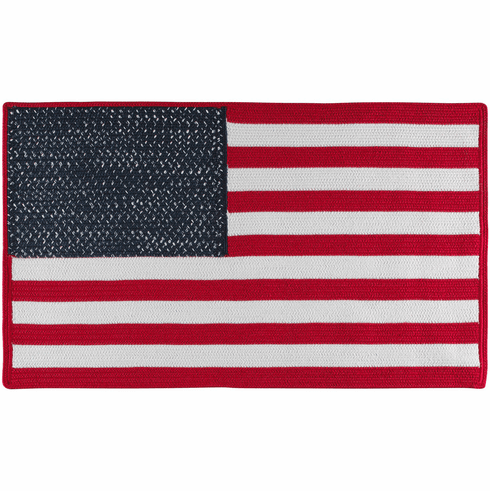 Hand-Braided Patriotic Rug