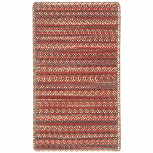 Hand-Braided Red Rug