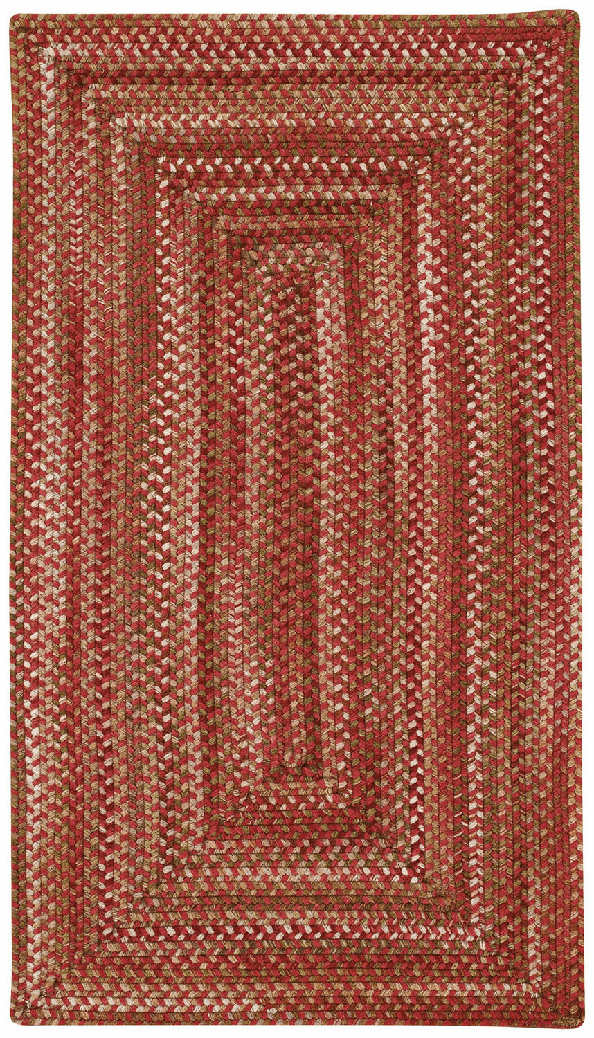 Hand-Braided Redwood Rug