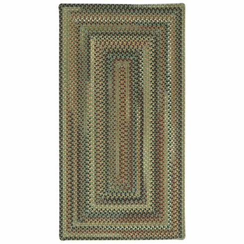 Hand-Braided Sage Green Rug