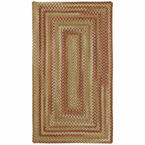 Hand-Braided Sage Red Hues Rug