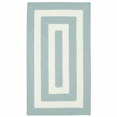 Hand-Braided Spa Blue Rug
