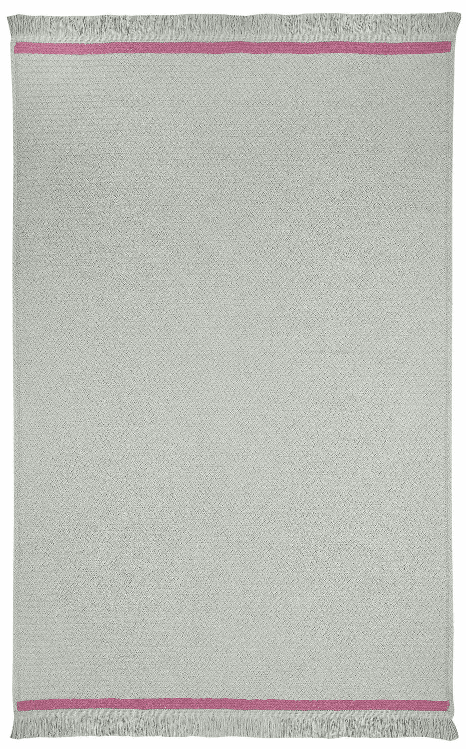 Hand-Braided Steel Grey Fuschia Rug