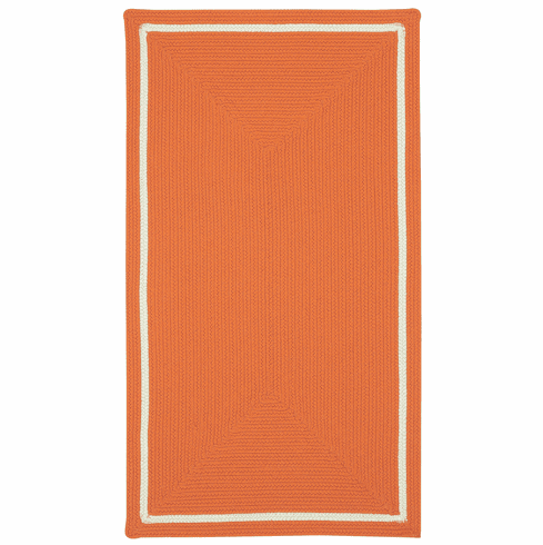 Hand-Braided Terra Cotta Rug