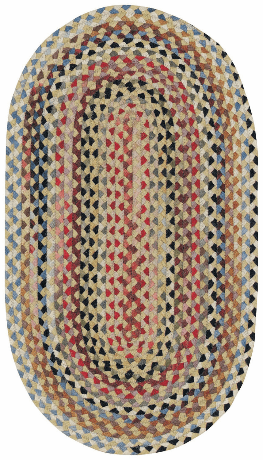 Hand-Braided Wheat Rug