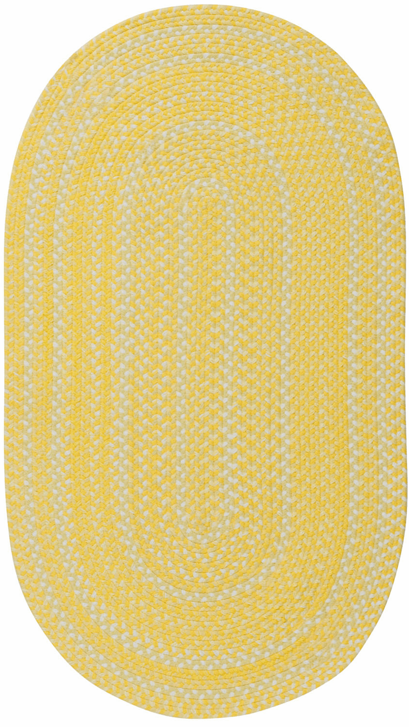 Hand-Braided Yellow Rug
