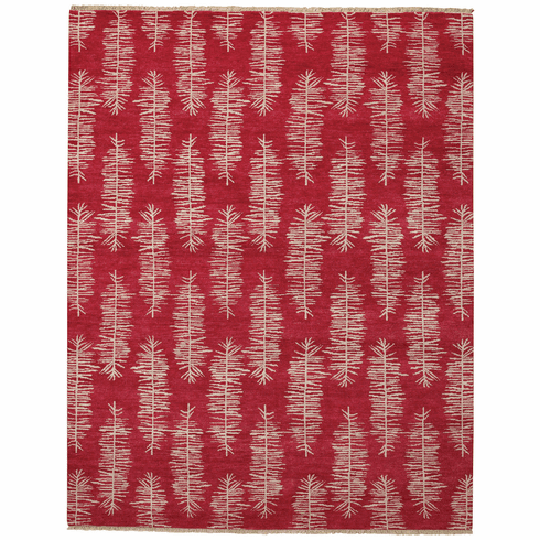 Hand Knotted Apple Red Rug