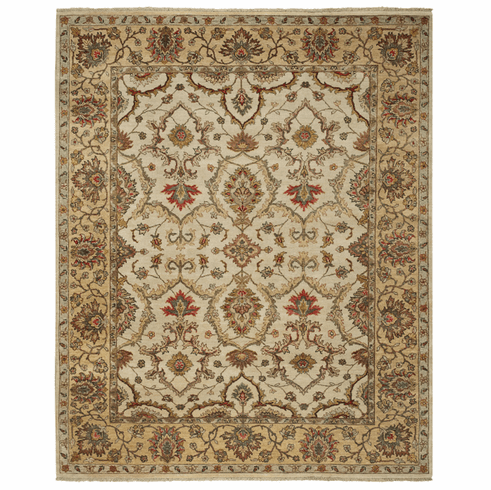 Hand Knotted Beige Rug