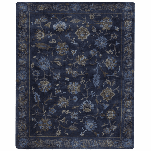 Hand Knotted Blue Ocean Rug