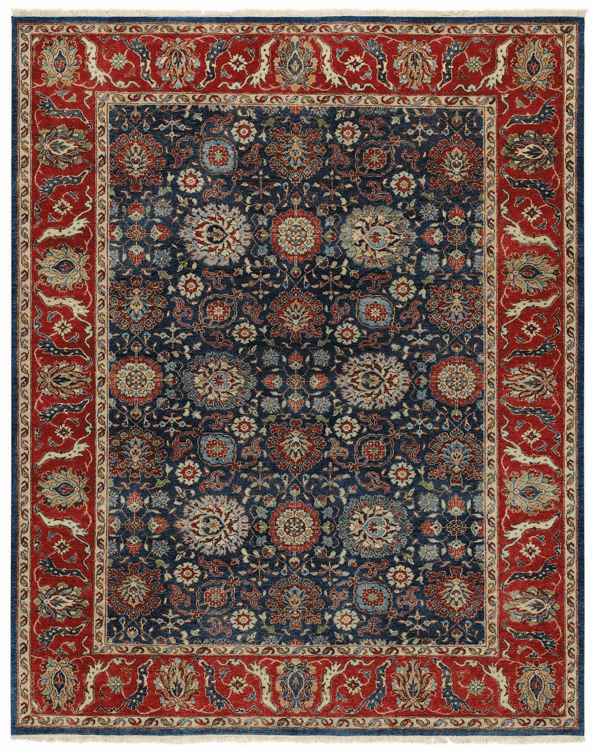 Hand Knotted Blue Rug