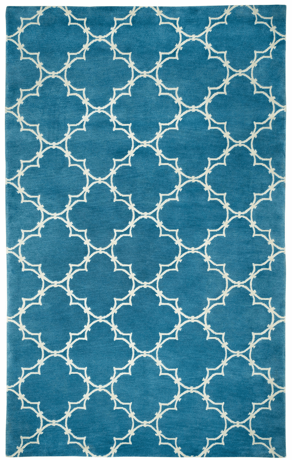 Hand Knotted Bright Blue Rug