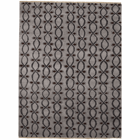 Hand Knotted Coal Rug