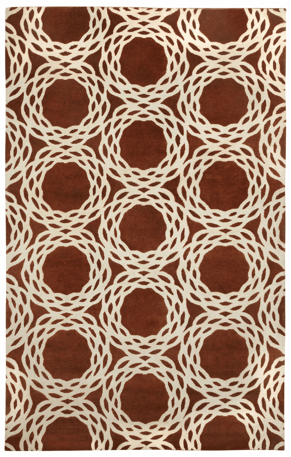 Hand Knotted Copper Cream Rug