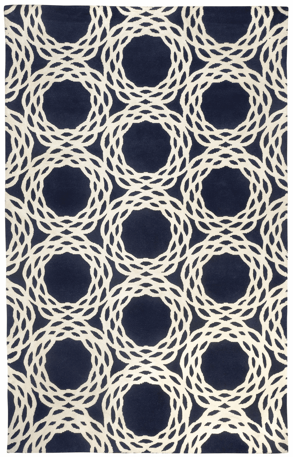 Hand Knotted Dark Blue Rug