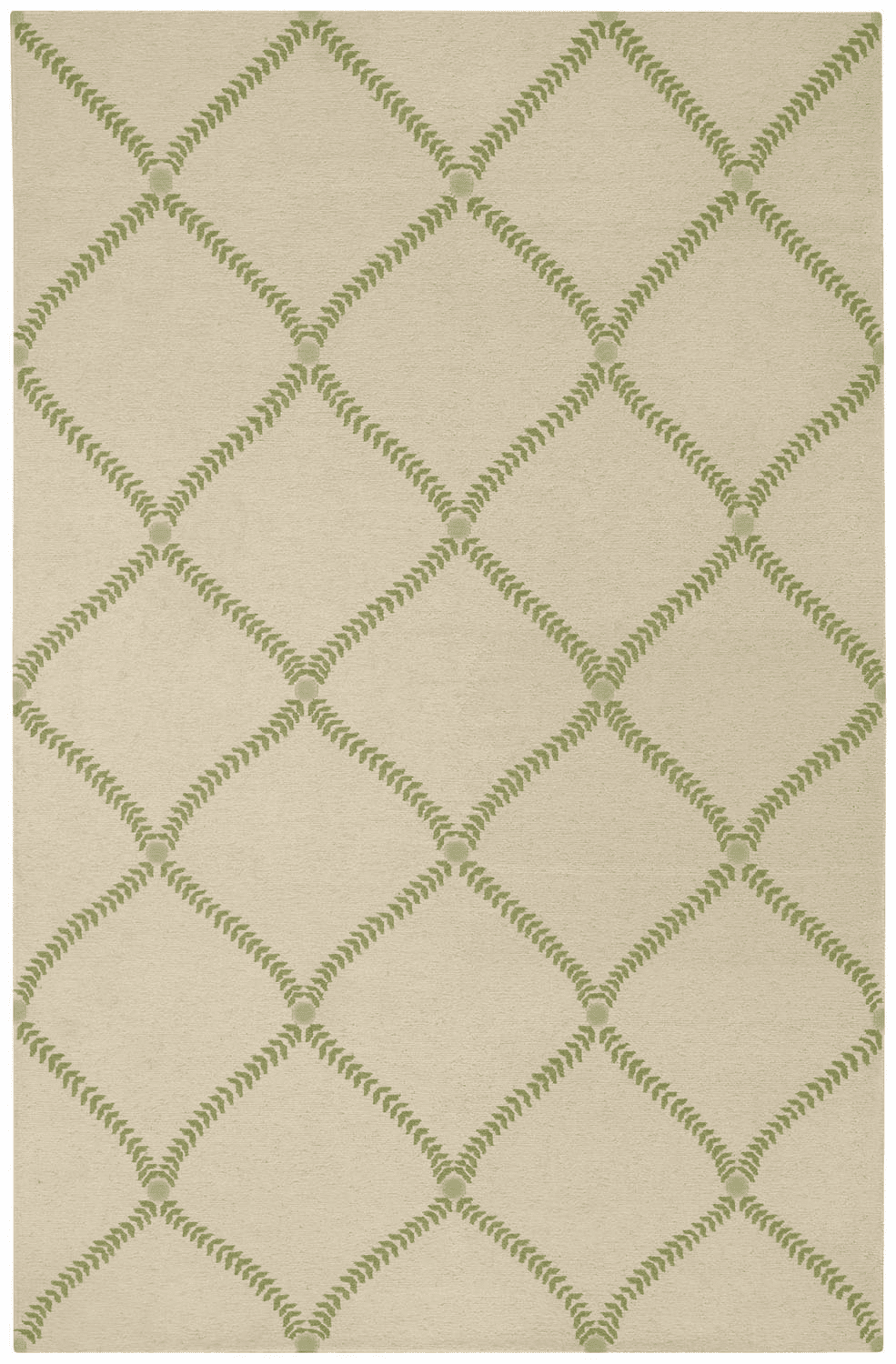 Hand Knotted Grass Green Rug