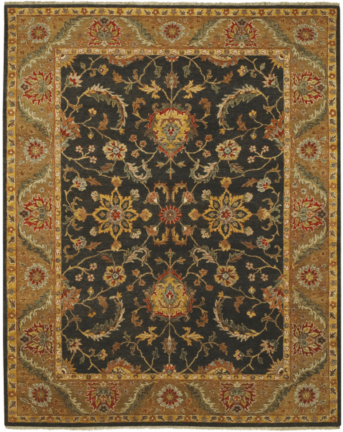 Hand Knotted Grey Rug