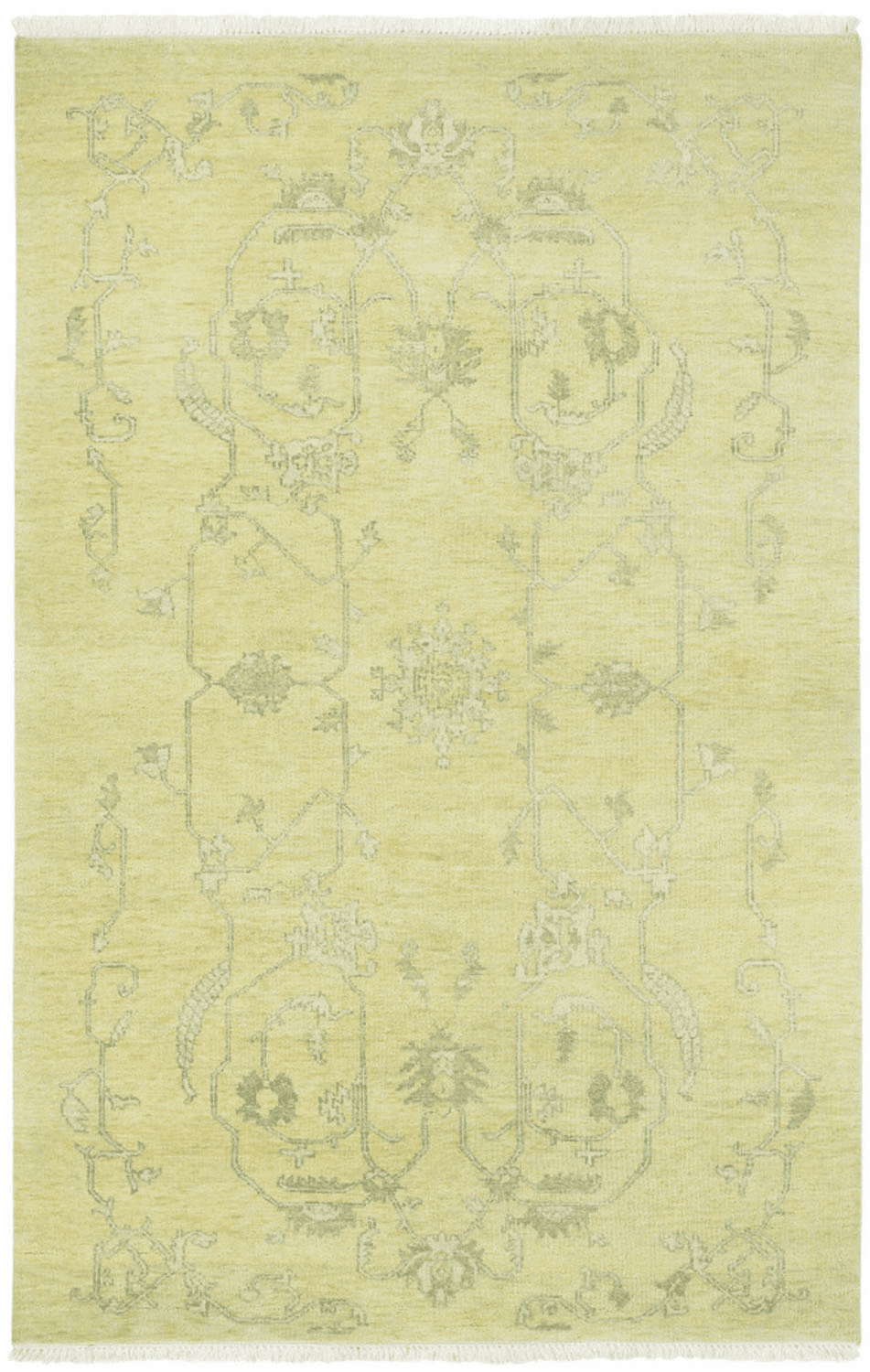 Hand Knotted Light Amber Rug