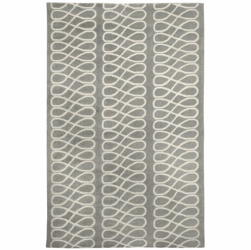Hand Knotted Light Charcoal Cream Rug
