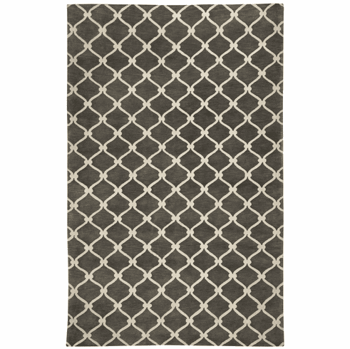 Hand Knotted Light Charcoal Rug