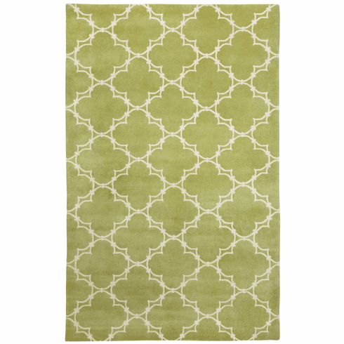 Hand Knotted Moss Cream Rug