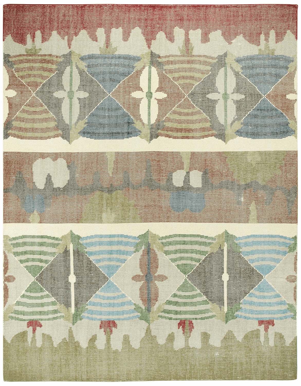 Hand Knotted Multitone Rug