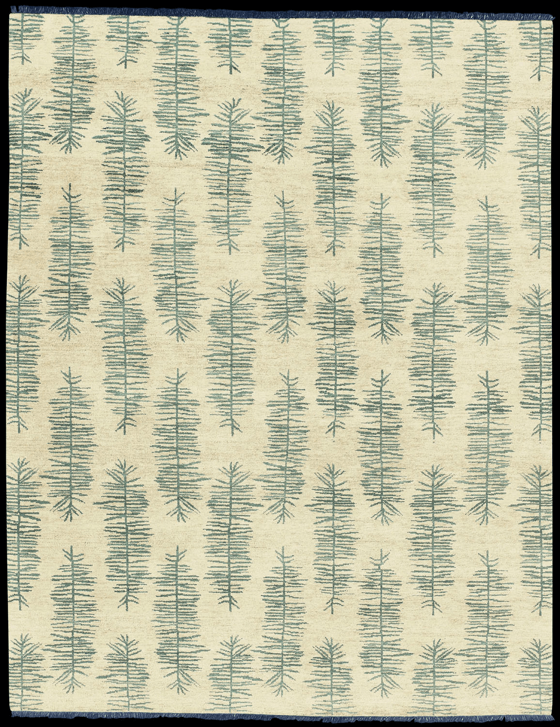 Hand Knotted Navy Rug
