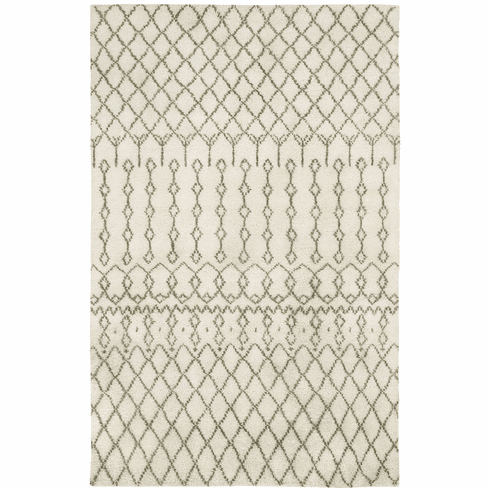 Hand Knotted Pale Beige Rug