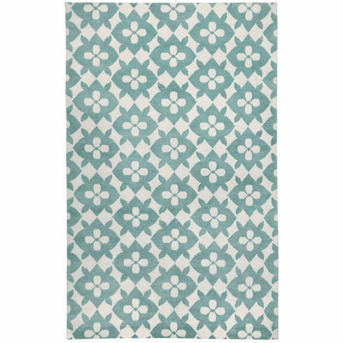 Hand Knotted Pale Blue Cream Rug