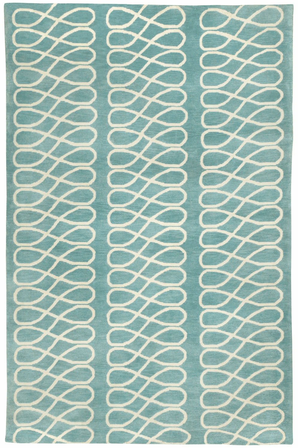 Hand Knotted Pale Blue Rug