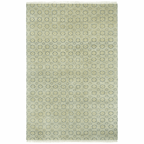 Hand Knotted Pale Brown Rug