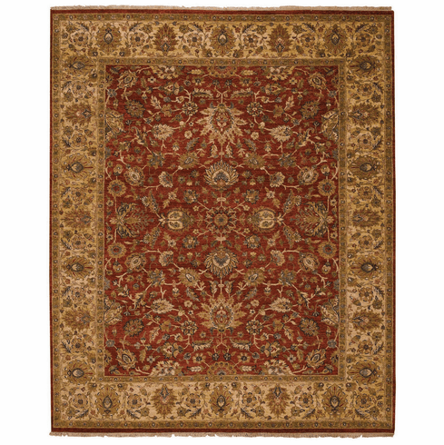 Hand Knotted Potters Clay Rug