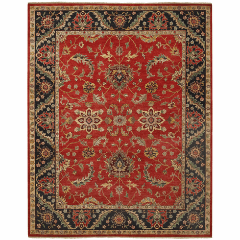 Hand Knotted Scarlet Rug