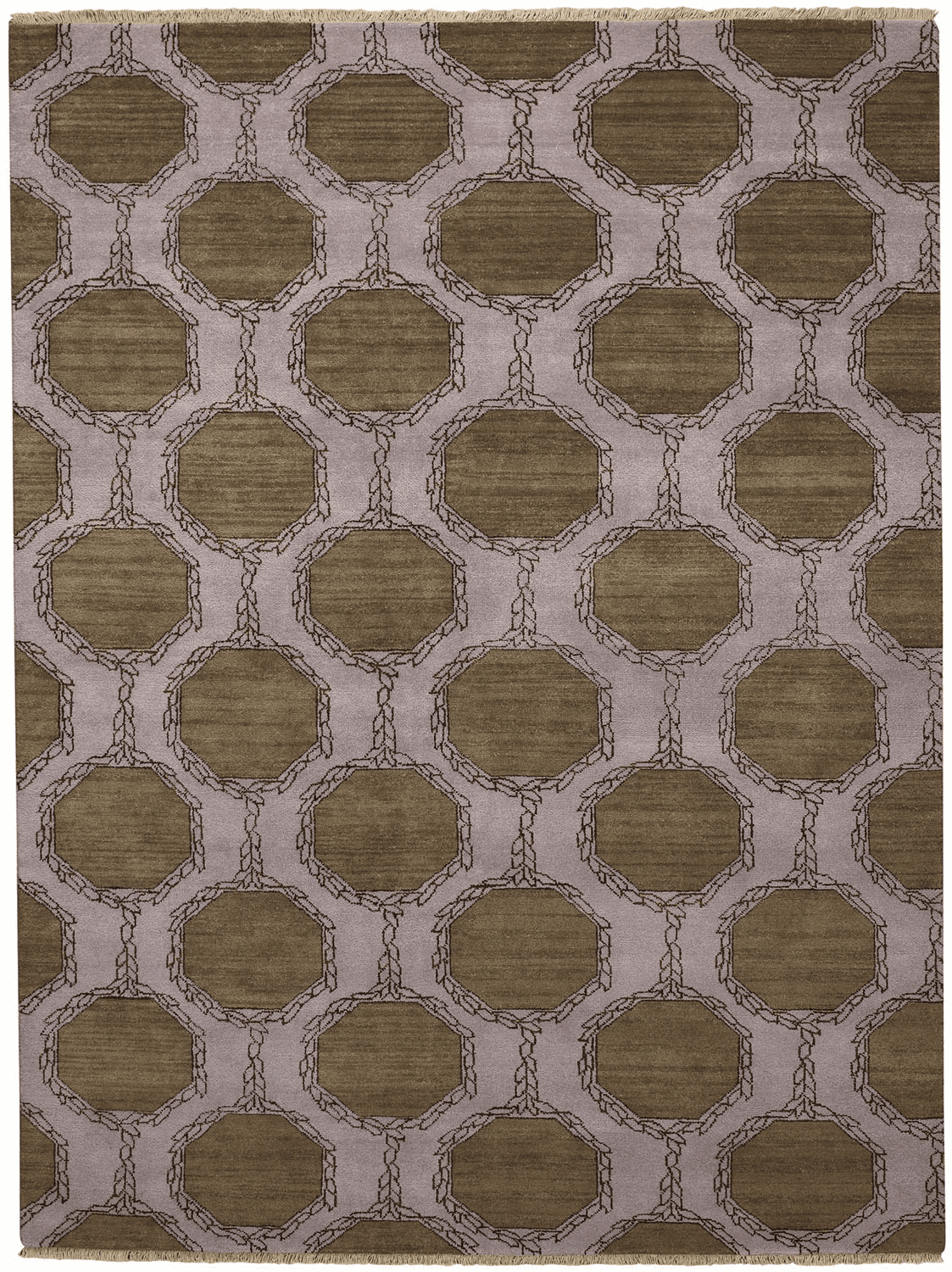 Hand Knotted Tawny Rug