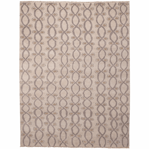 Hand Knotted Toile Rug