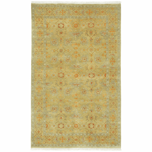 Hand Knotted Yellow Rug