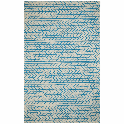 Hand Tufted Beige Blue Rug