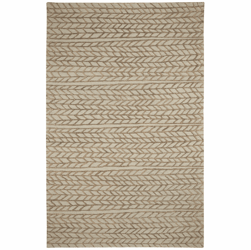 Hand Tufted Beige Chestnut Rug