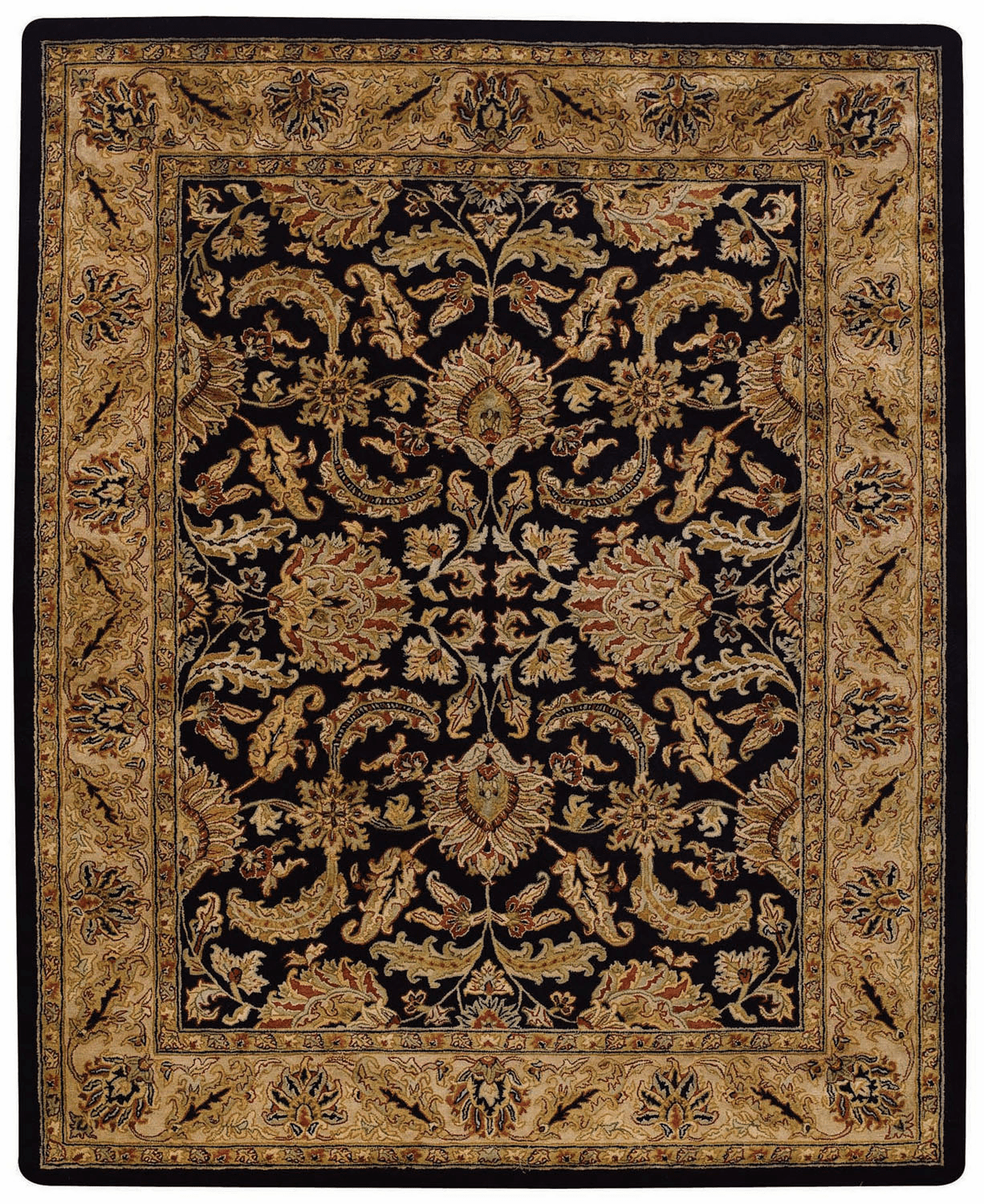 Hand Tufted Black and Beige Rug