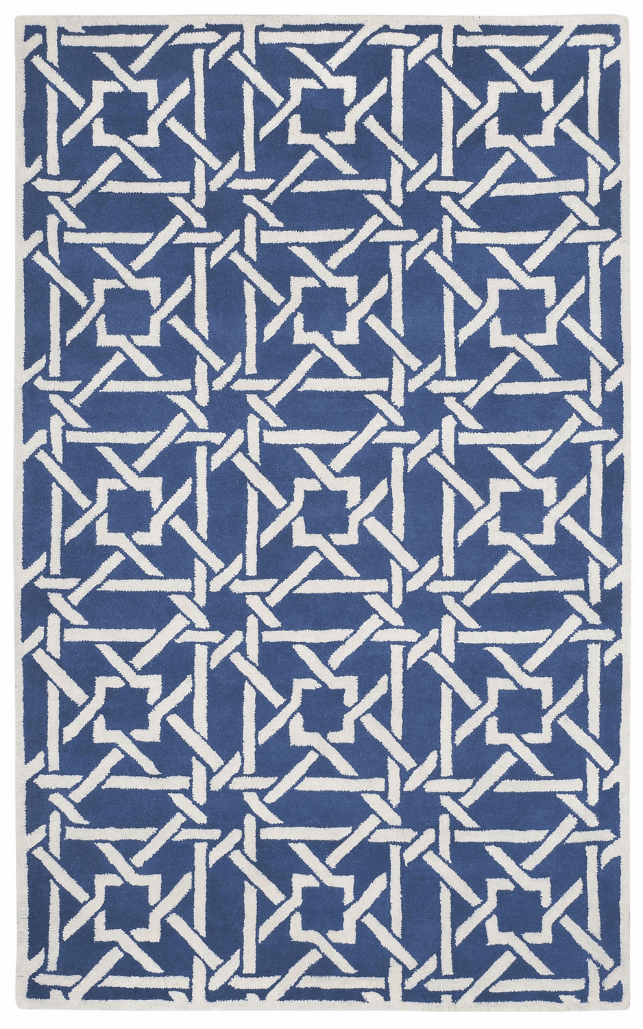 Hand Tufted Blue Beige Rug