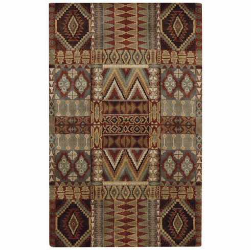 Hand Tufted Brown Multi Rug