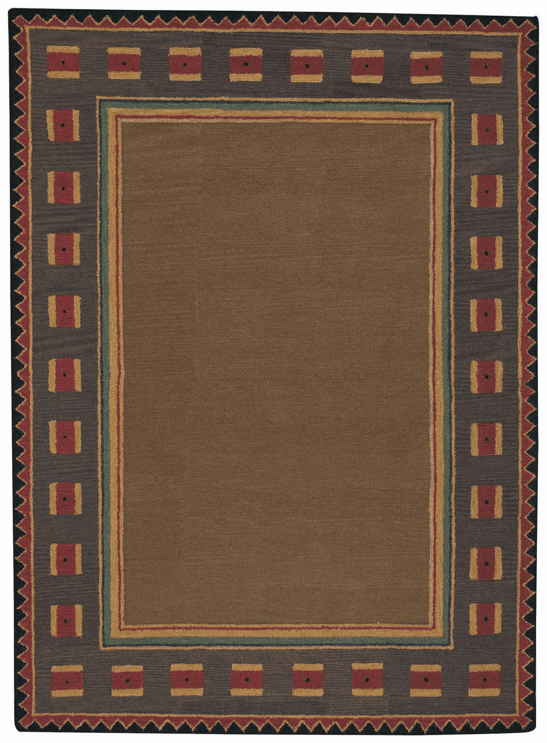 Hand Tufted Brown Rug