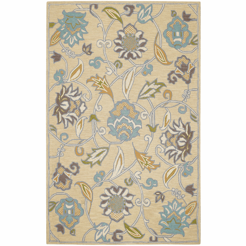 Hand Tufted Buff Rug