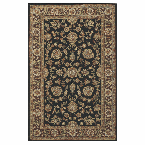 Hand Tufted Charcoal Chestnut Rug