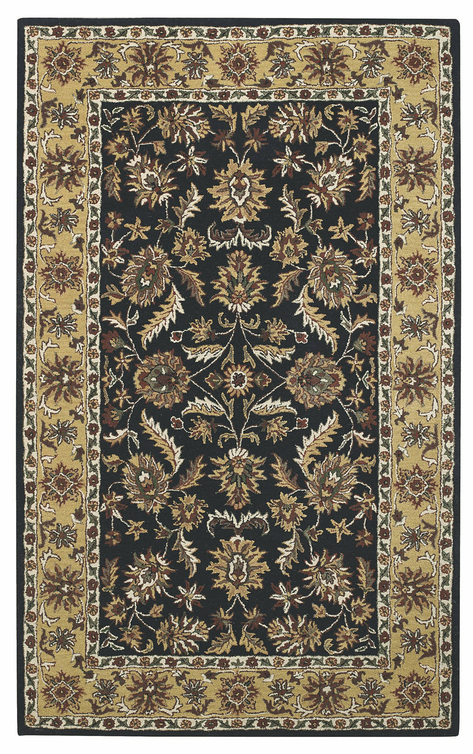 Hand Tufted Charcoal Light Gold Rug