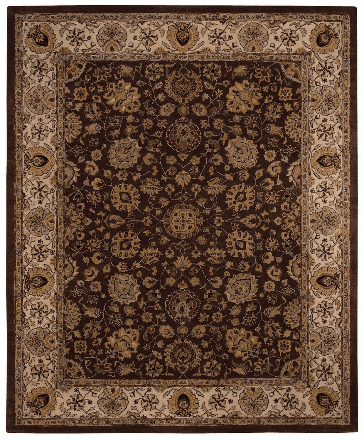 Hand Tufted Dark Coffee Rug