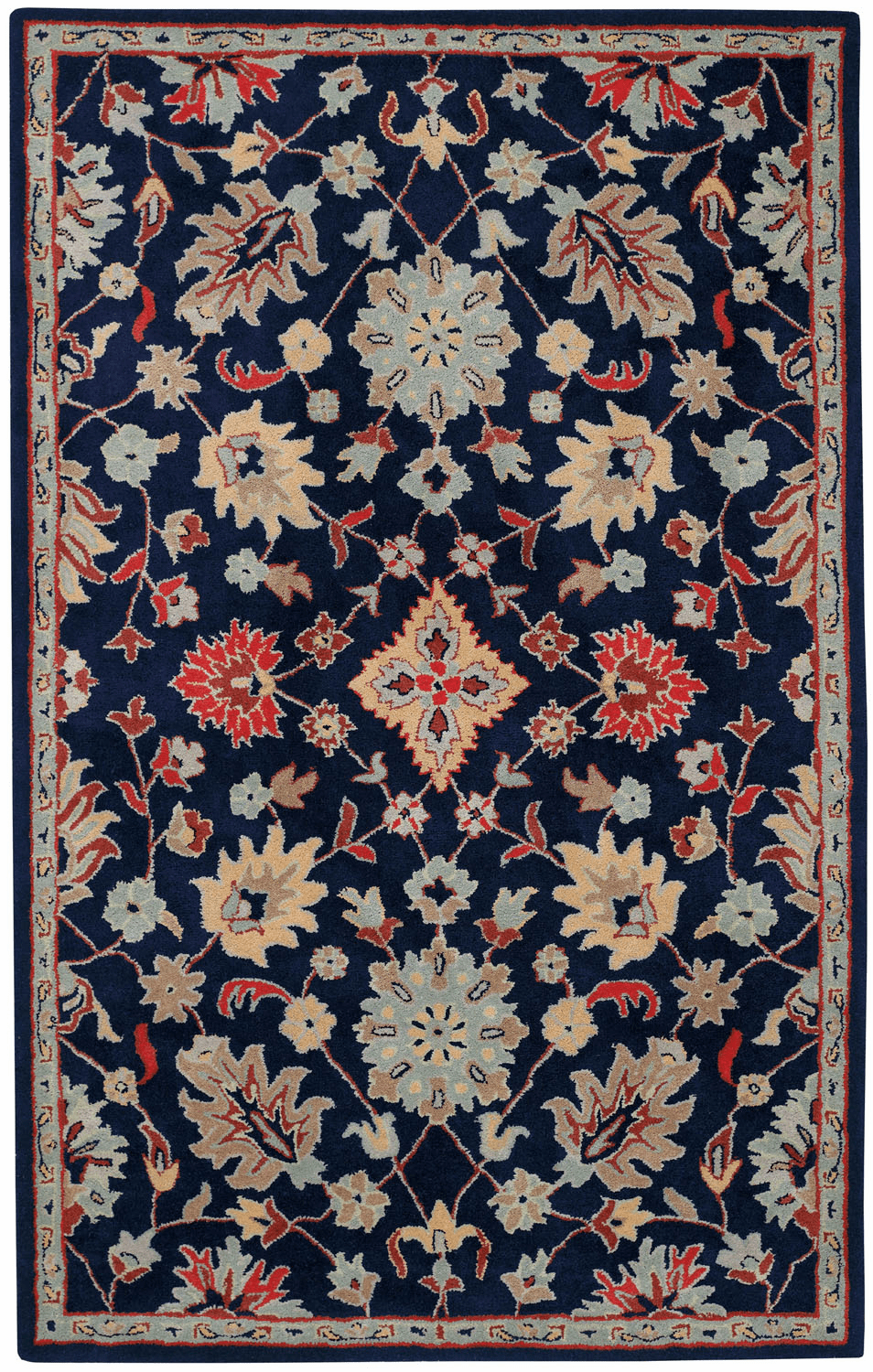 Hand Tufted Deep Blue Rug