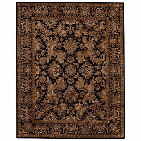 Hand Tufted Ebony and Brown Rug