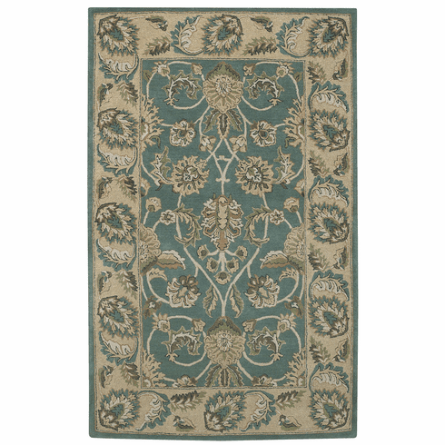 Hand Tufted Green Sand Rug