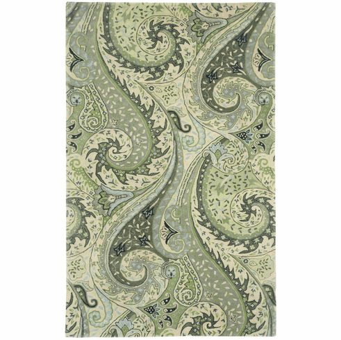 Hand Tufted Leaf Green Rug
